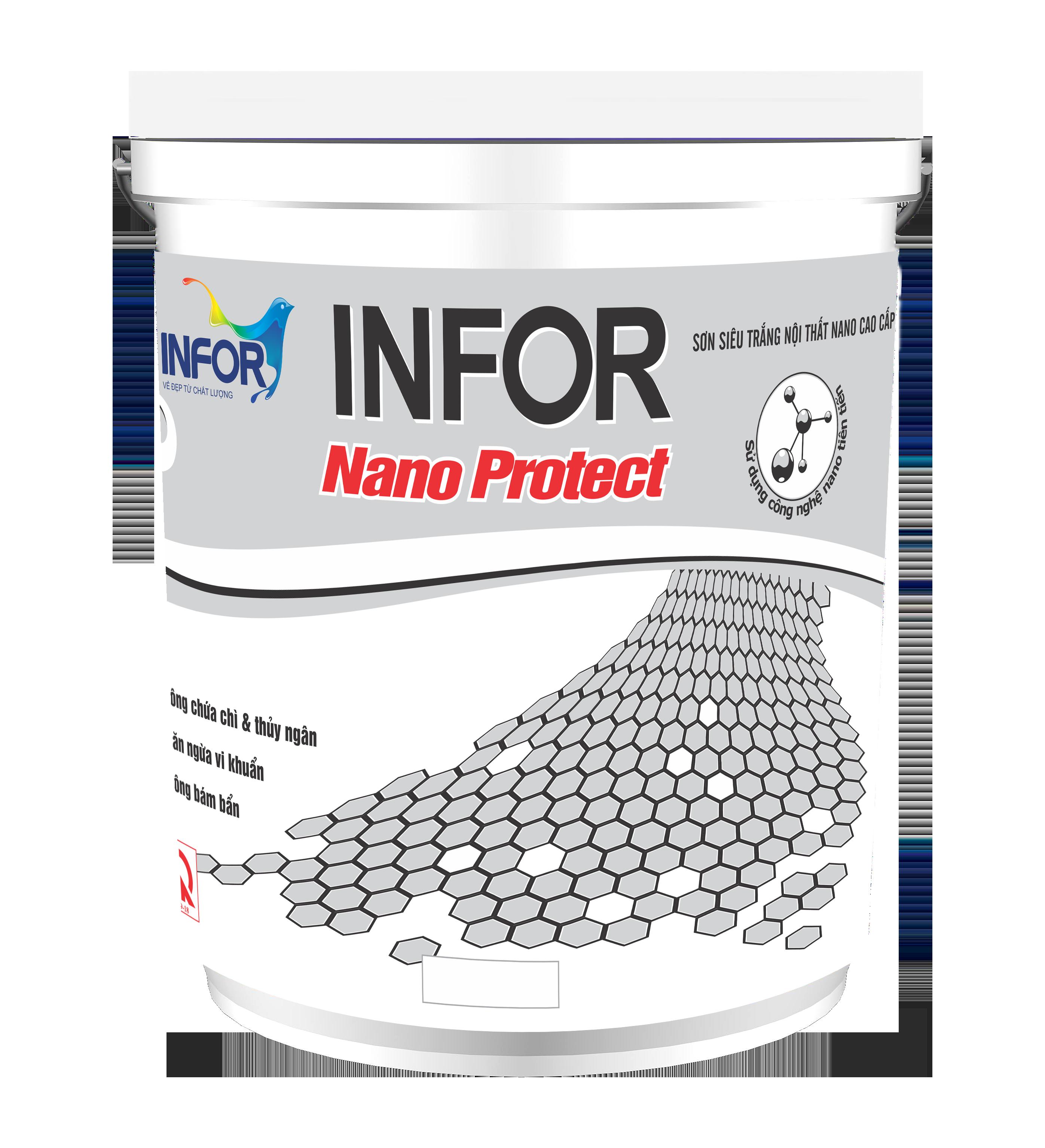 Sơn siêu trắng nội thất cao cấp – Nano Protect