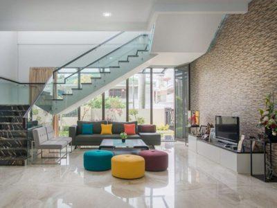 Không gian sang trọng và hiện đại cho căn nhà 2 tầng