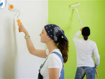 Hướng dẫn quy trình sơn lại Tường Cũ