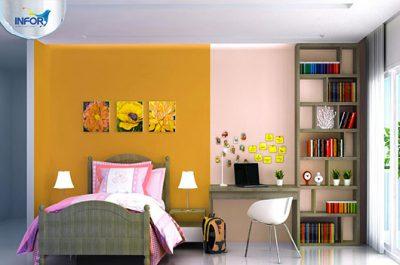Sơn nhà màu vàng- màu của hạnh phúc và thịnh vượng