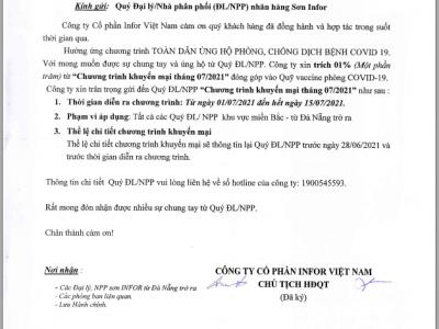 👏️🔥 Infor Việt Nam phát động tinh thần tương thân tương ái cùng Quý ĐL/NPP.