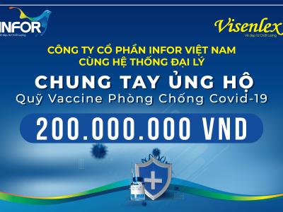 """INFOR VIỆT NAM ỦNG HỘ 200 TRIỆU ĐỒNG VÀO """"QUỸ VẮC – XIN PHÒNG COVID-19"""""""